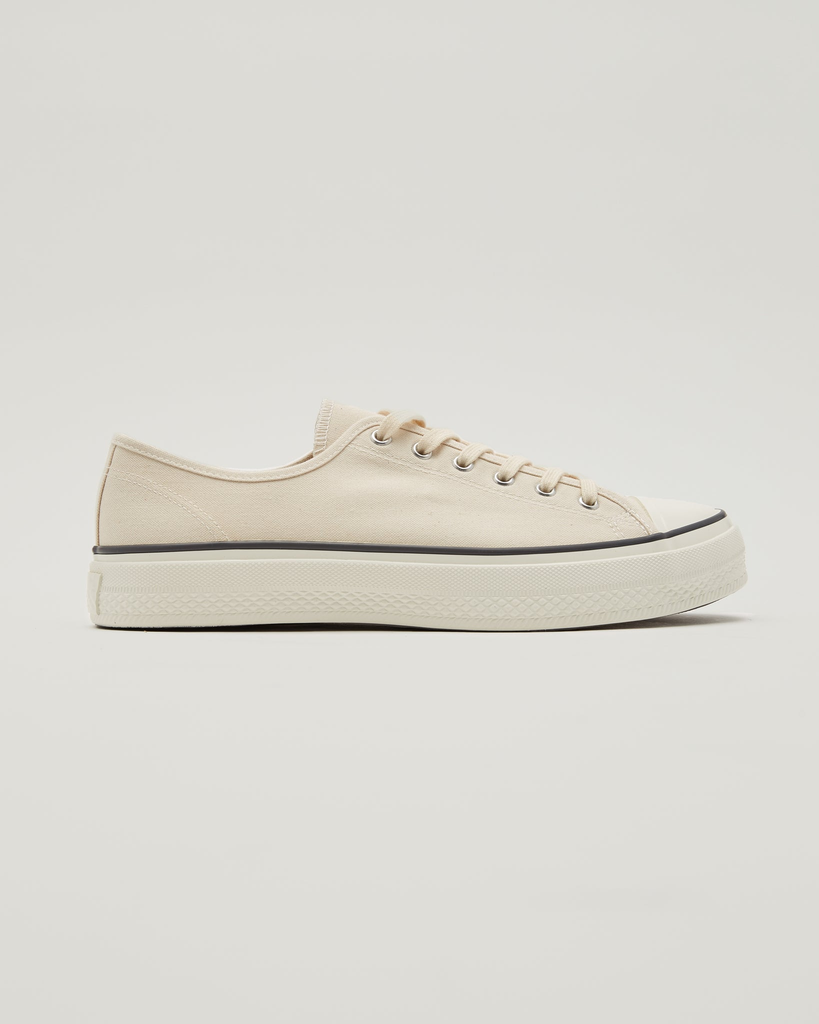 Canvas Low Sneakers in Natural Beige