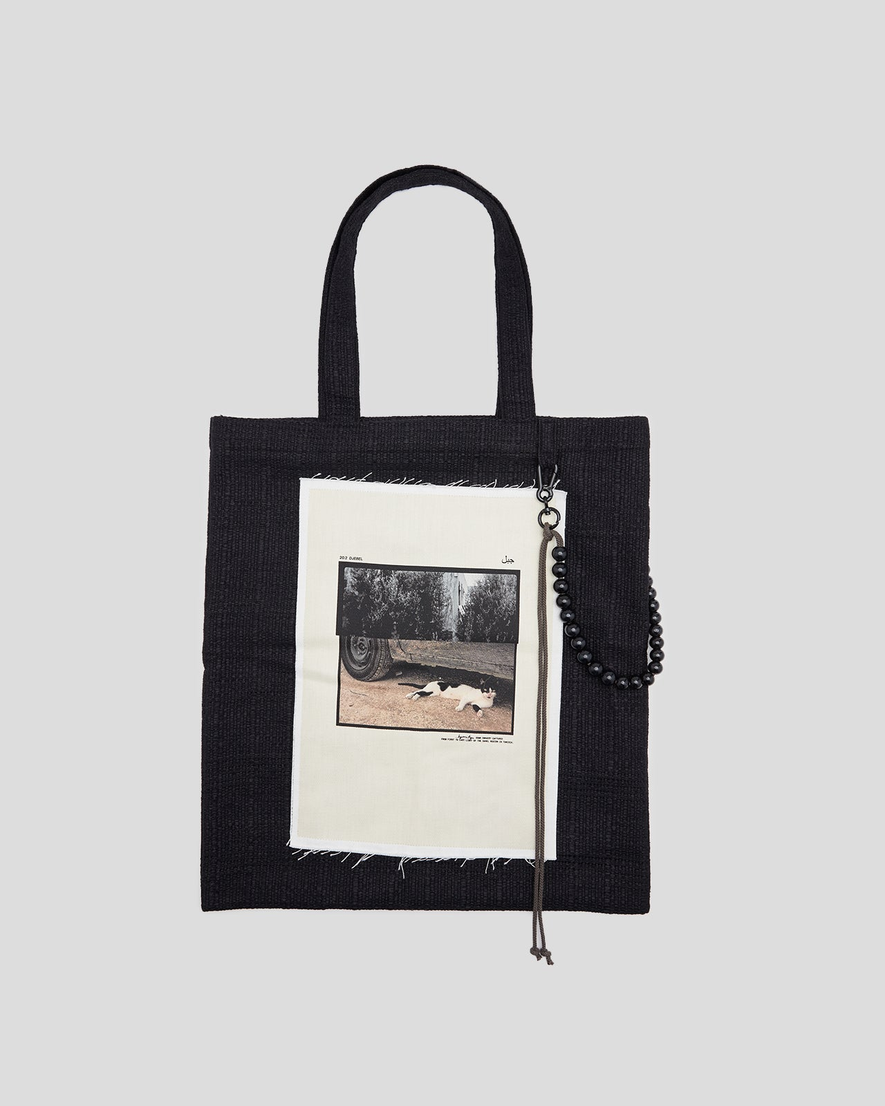 Cat Large Tote Bag in Black