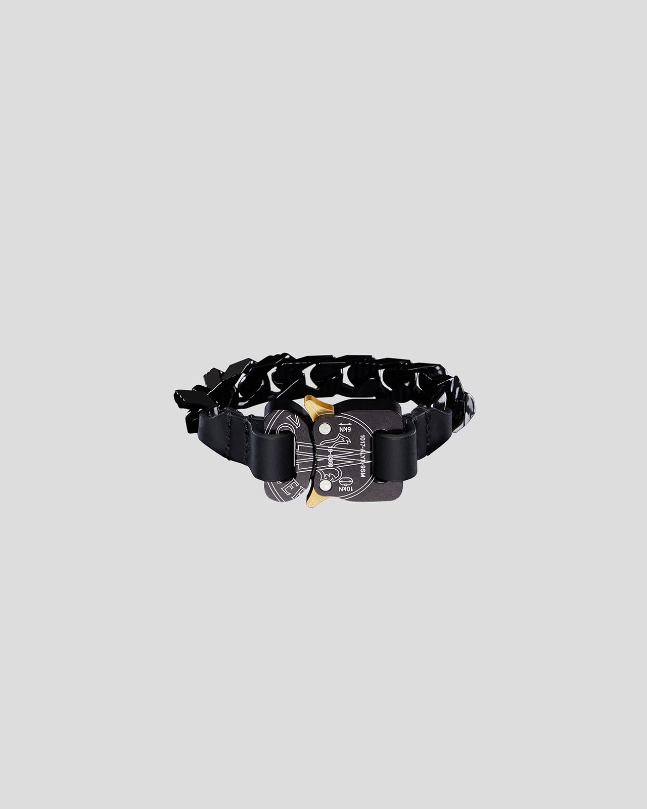 Chain Bracelet with Rollercoaster Buckle in Black
