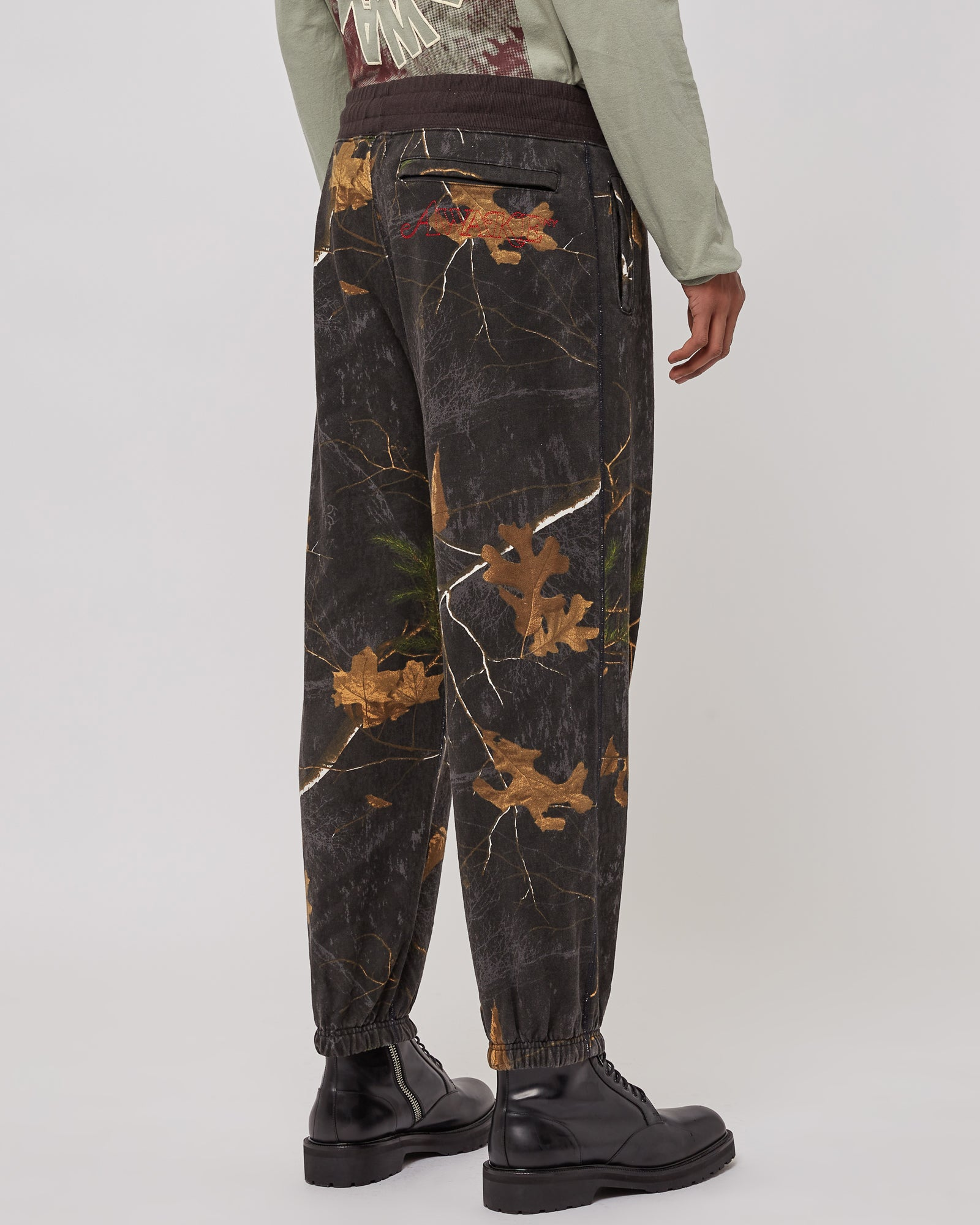 Classic Logo Embroidered Sweatpants in Real Tree