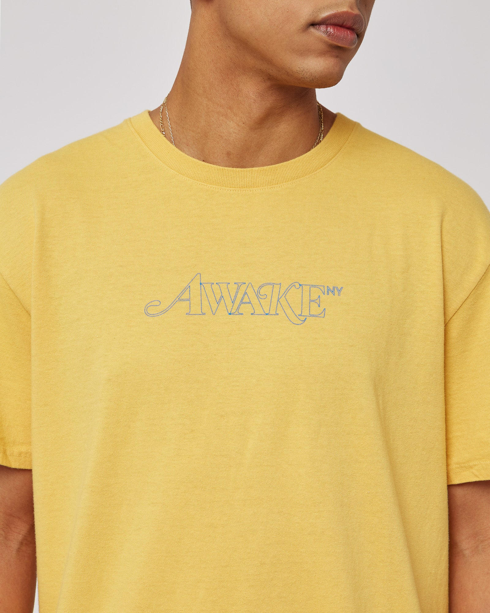 Classic Outline Logo T-Shirt in Mustard