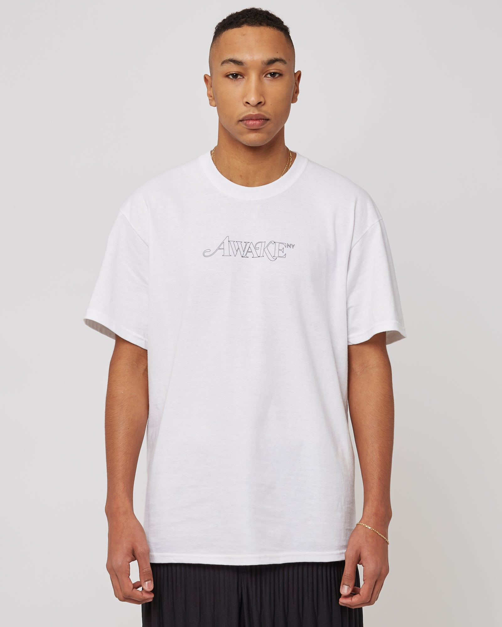 Classic Outline Logo T-Shirt in White