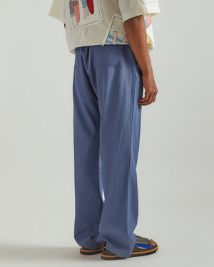 Classic Straight Leg Pants in Blue