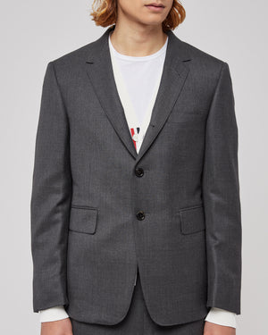 Classic Suit With Tie in Super 120s Black Twill
