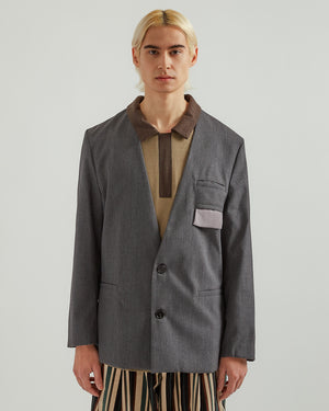 Collar Chameleon Blazer in Gray