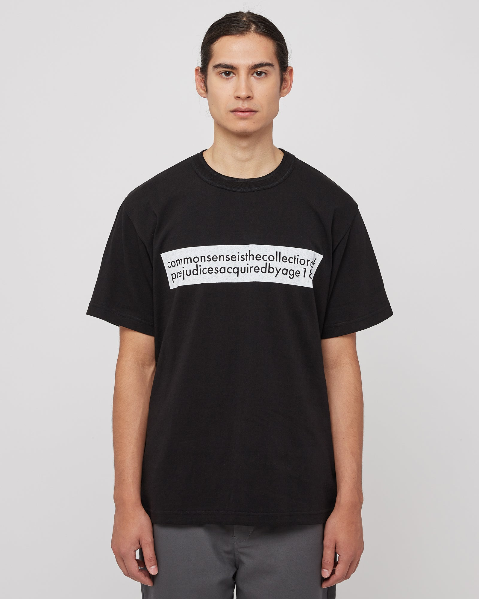 Common Sense Graphic T-Shirt in Black