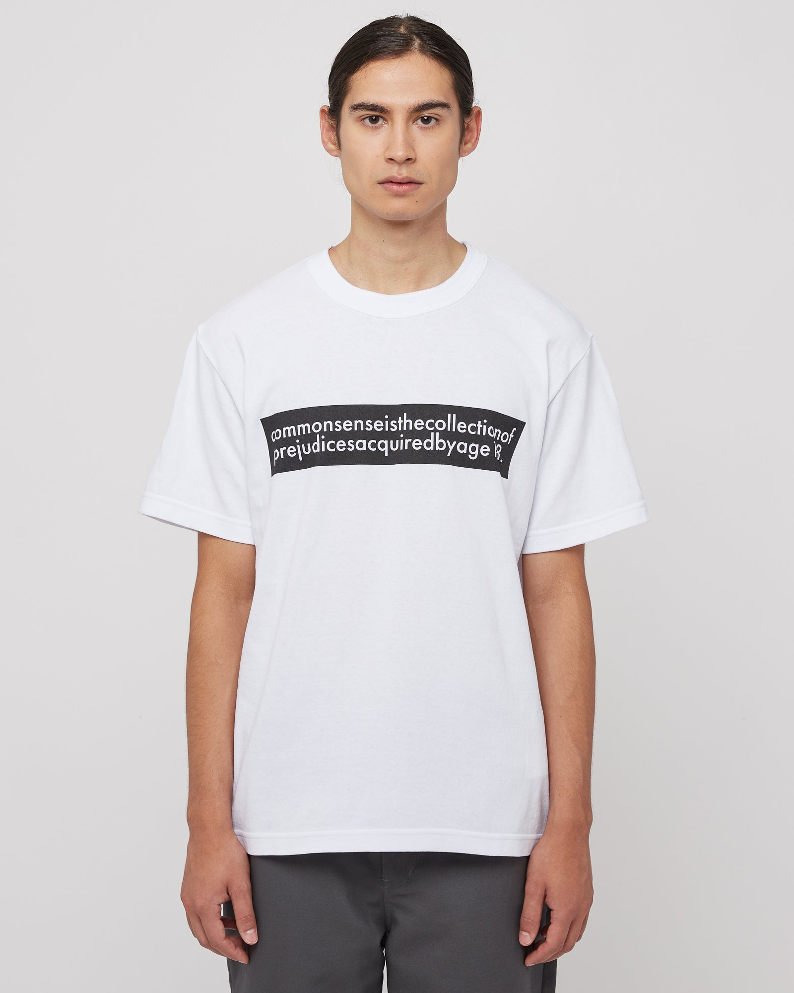 Common Sense Graphic T-Shirt in White