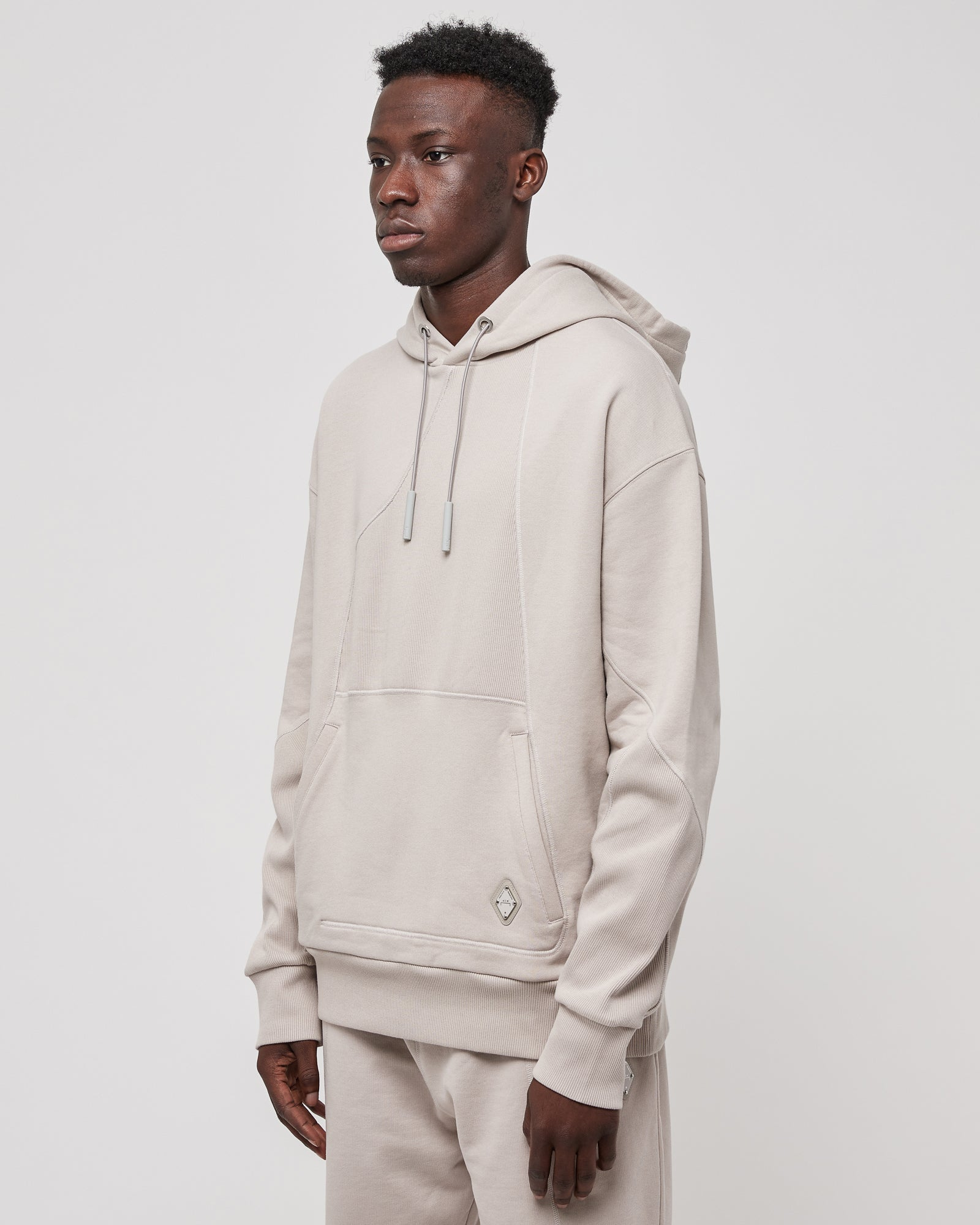 Contour Line Hoodie in Cement
