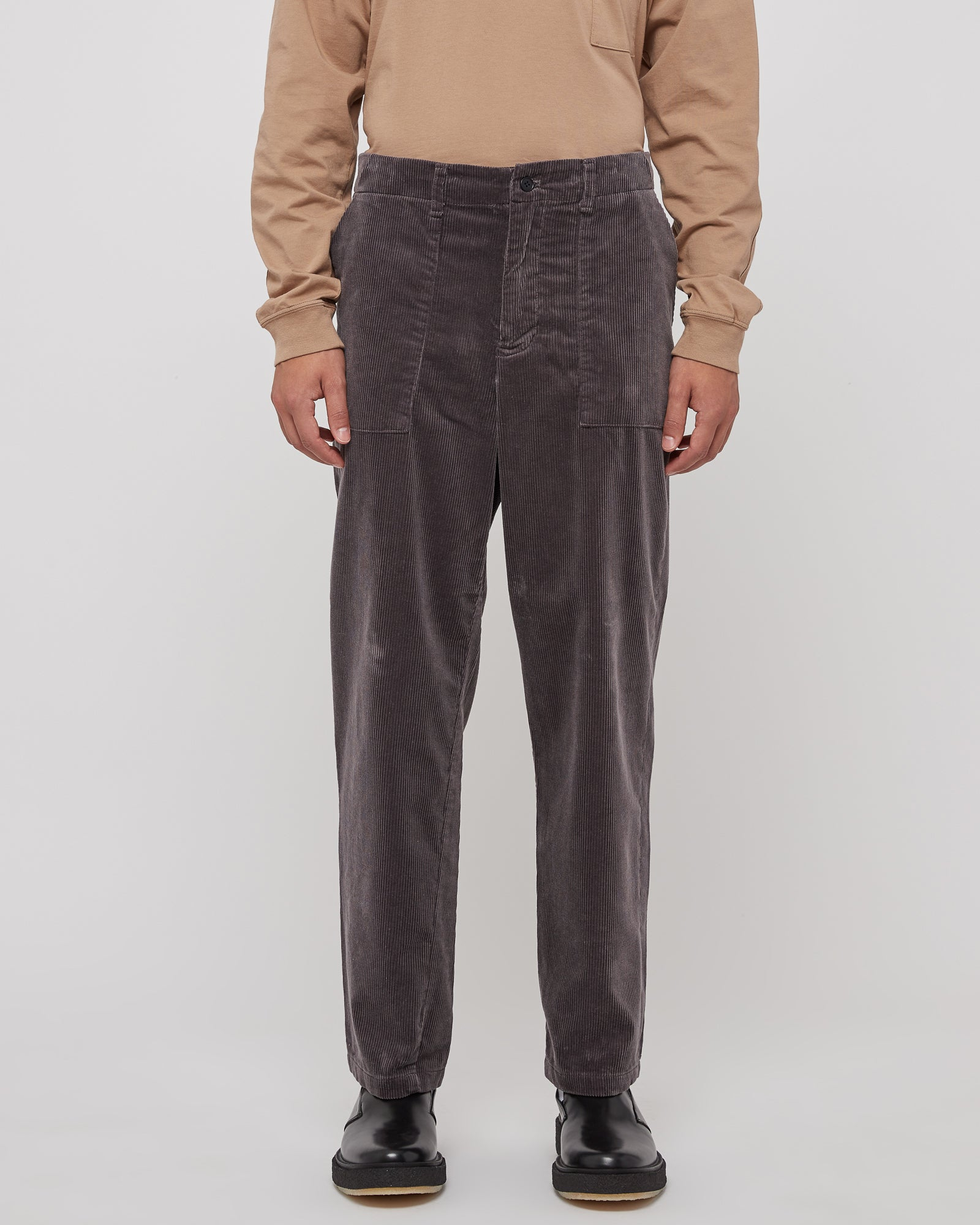 Corduroy Baker Pants in Smoke Gray