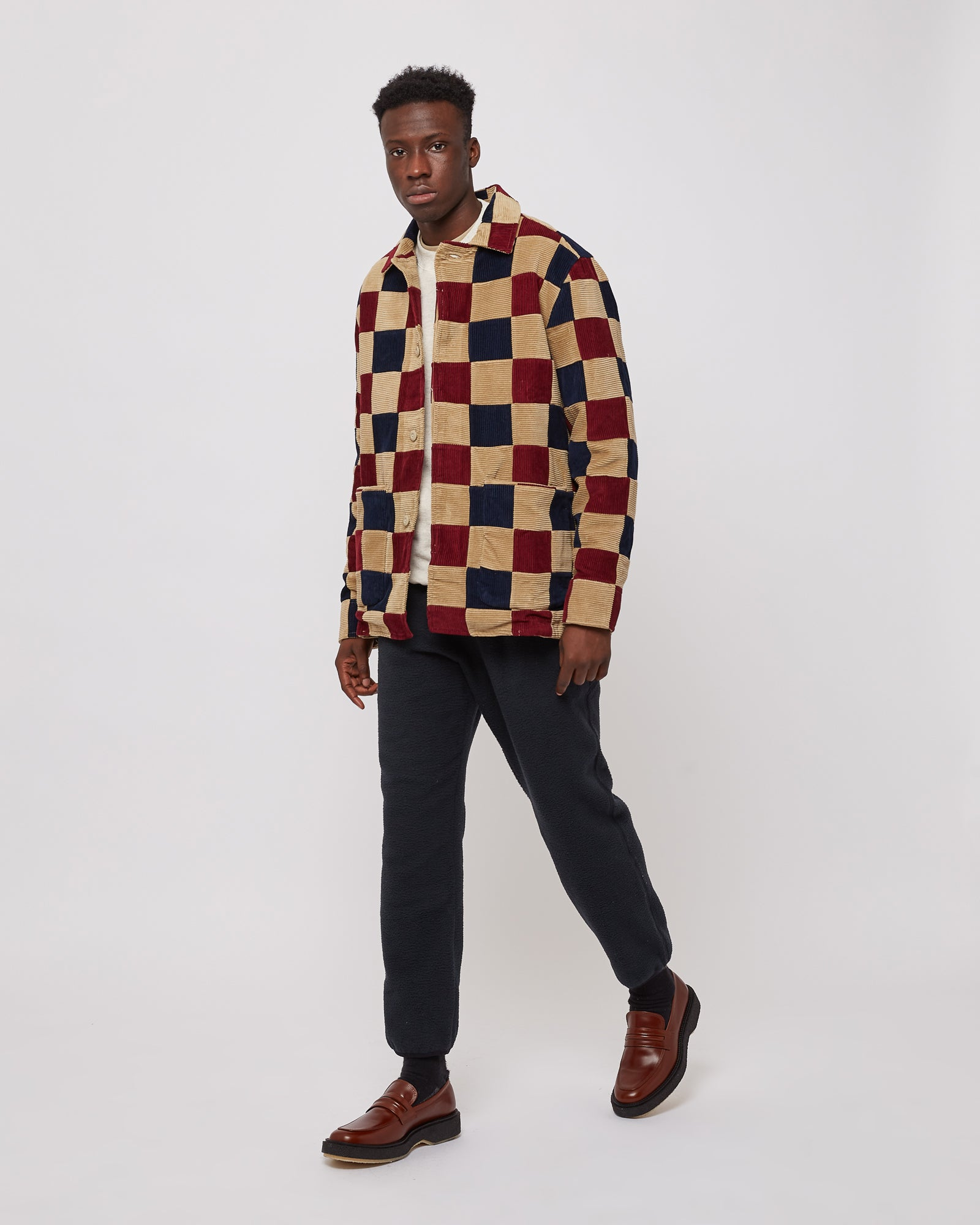 Corduroy Jacket in Patchwork