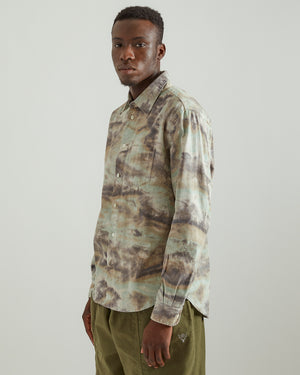 Corpus Button Down Shirt in Marin Camo