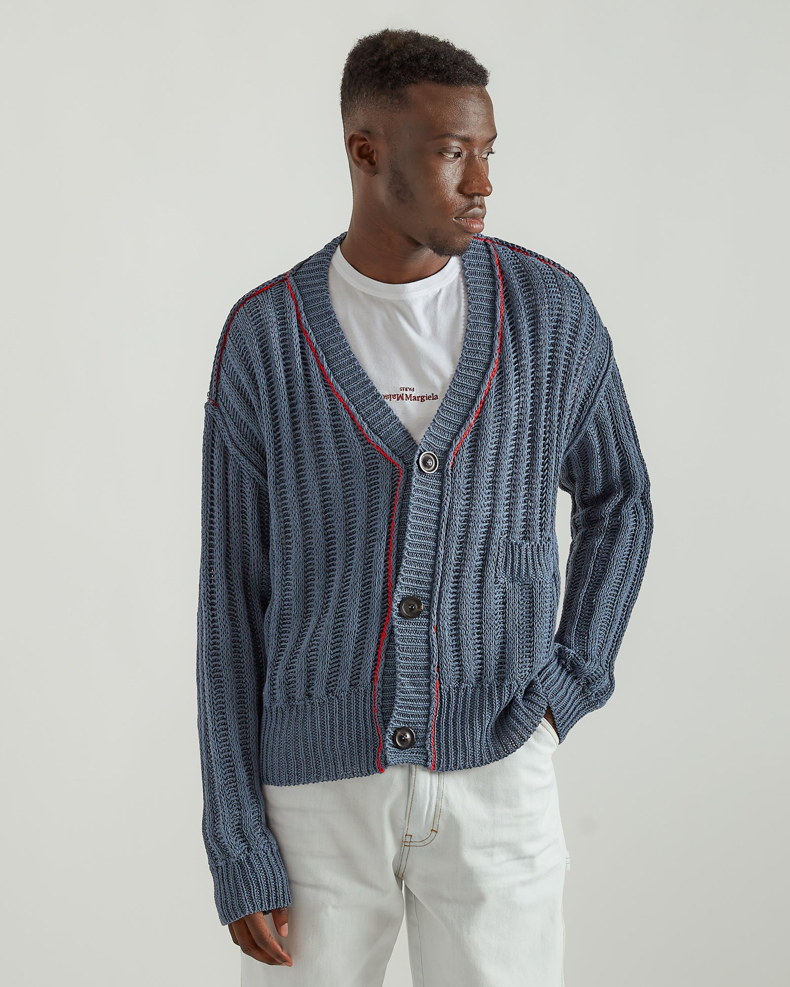 Cotton Cardigan in Blue