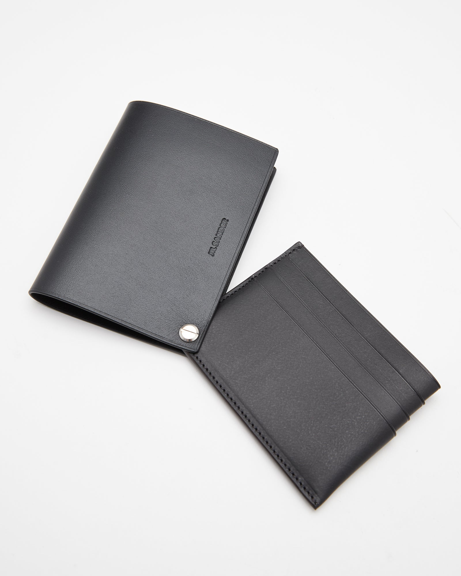 Covered Card Holder in Black