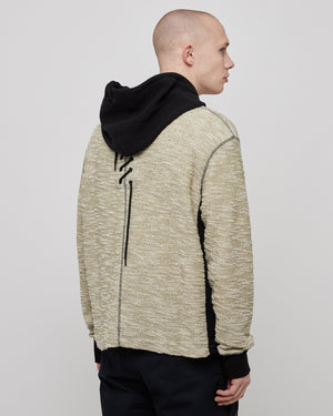 Laced Hoodie in Raw/Reverse Black