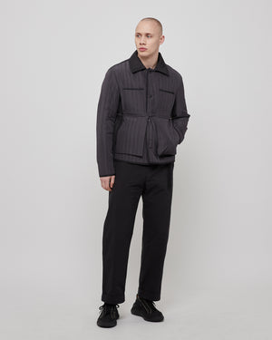 Quilted Worker Jacket in Gray
