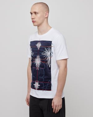 Embroidered Body T-Shirt in Navy