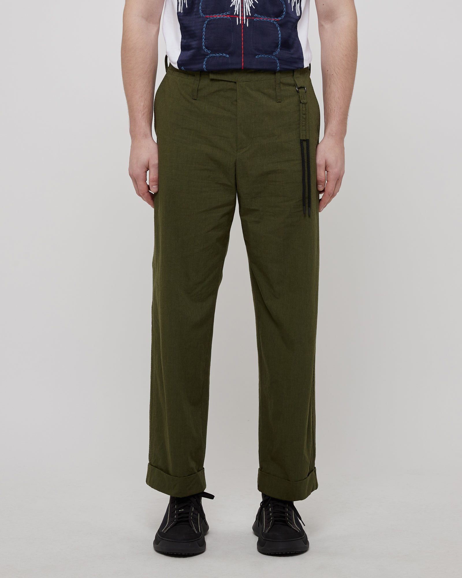 Uniform Trouser in Olive/Black
