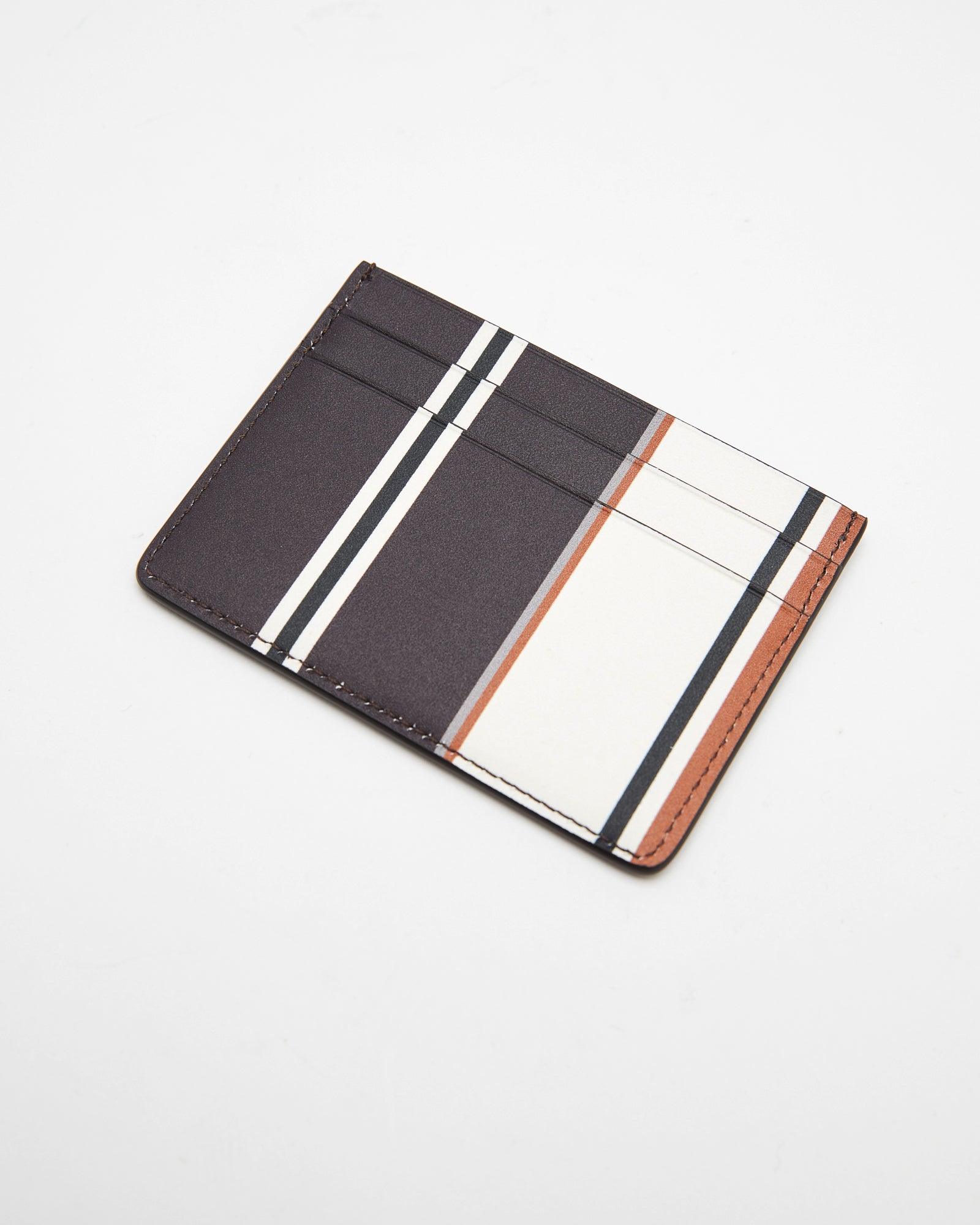 Credit Card Holder in Open Brown