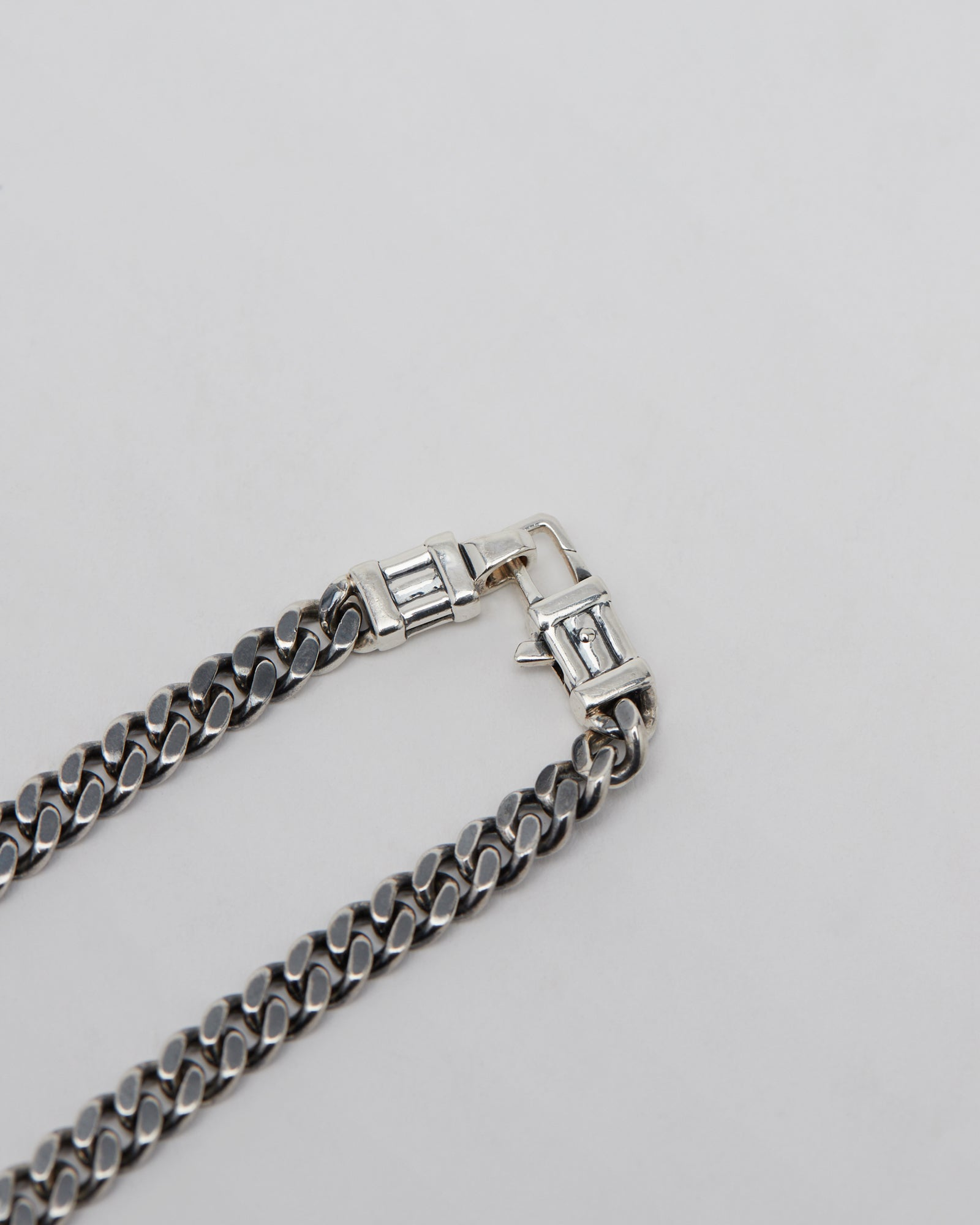 Curb Chain L in Silver