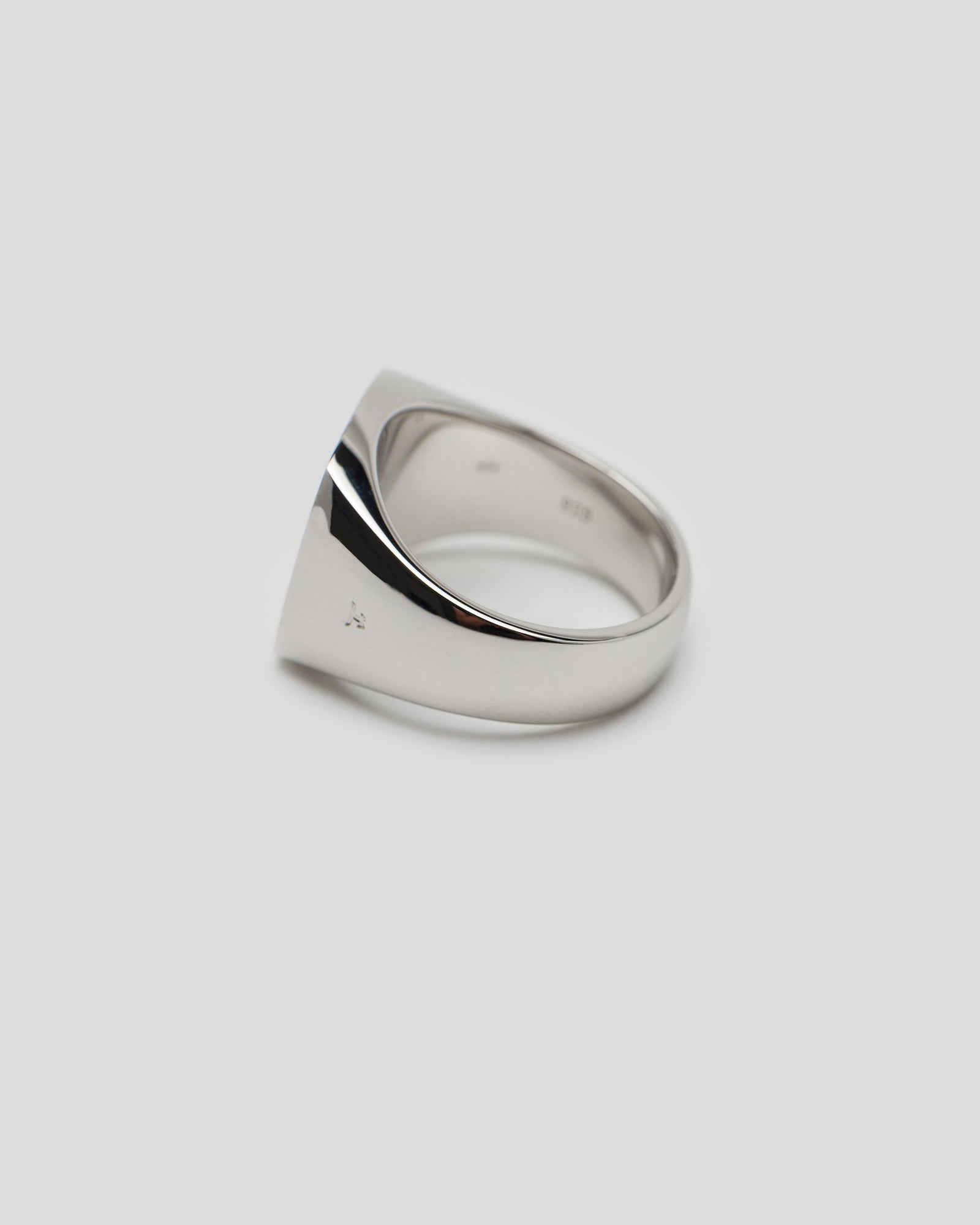 Satin Cushion Ring in Silver