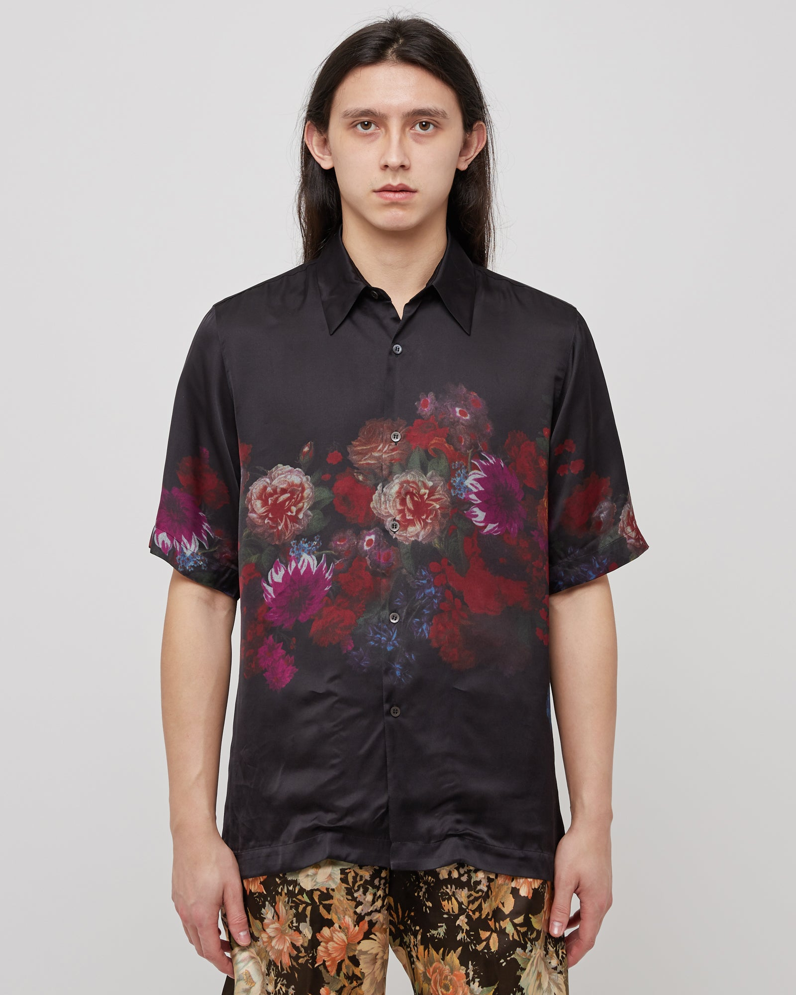 Clasen Floral Shirt in Black