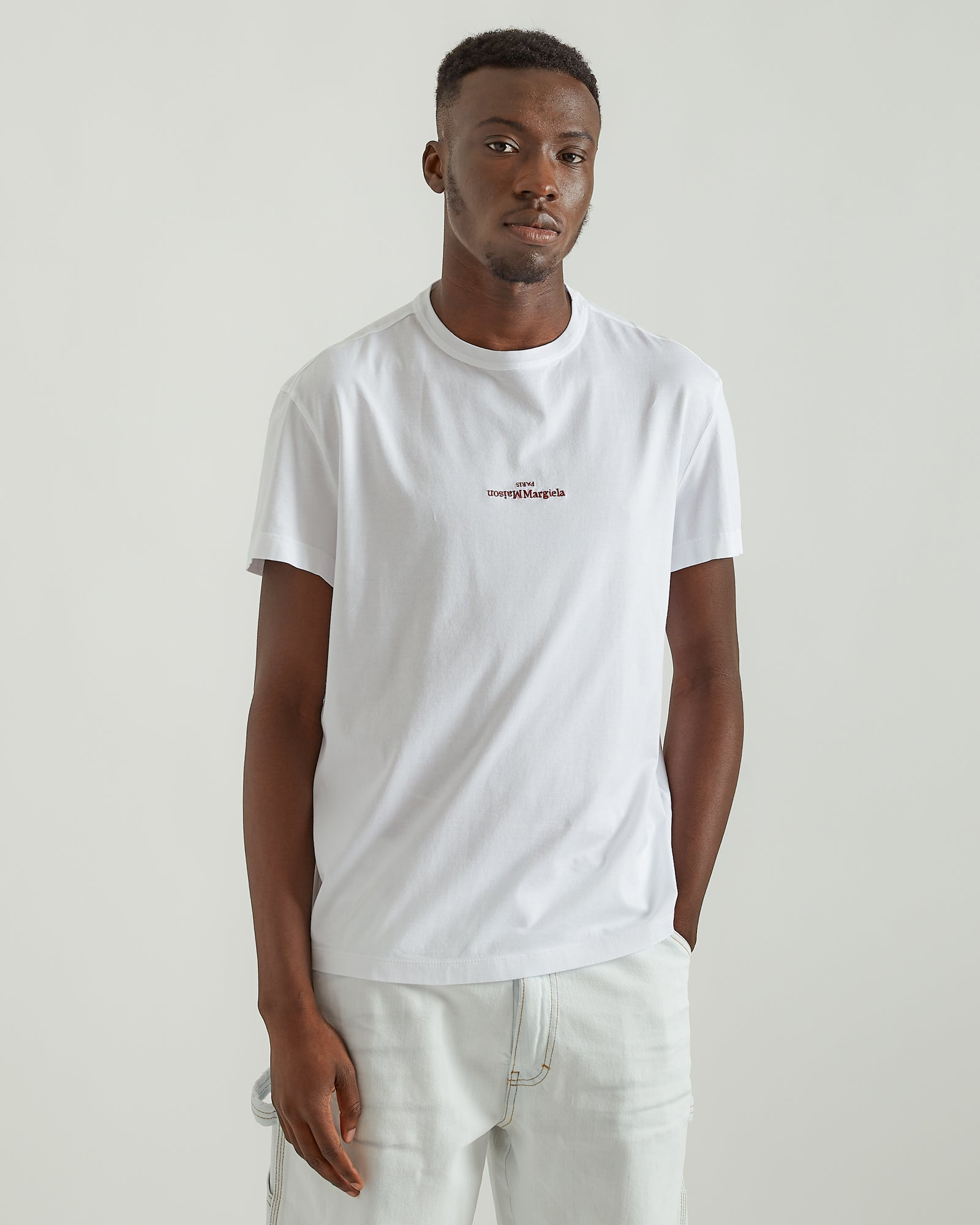 Distorted Logo T-Shirt in White