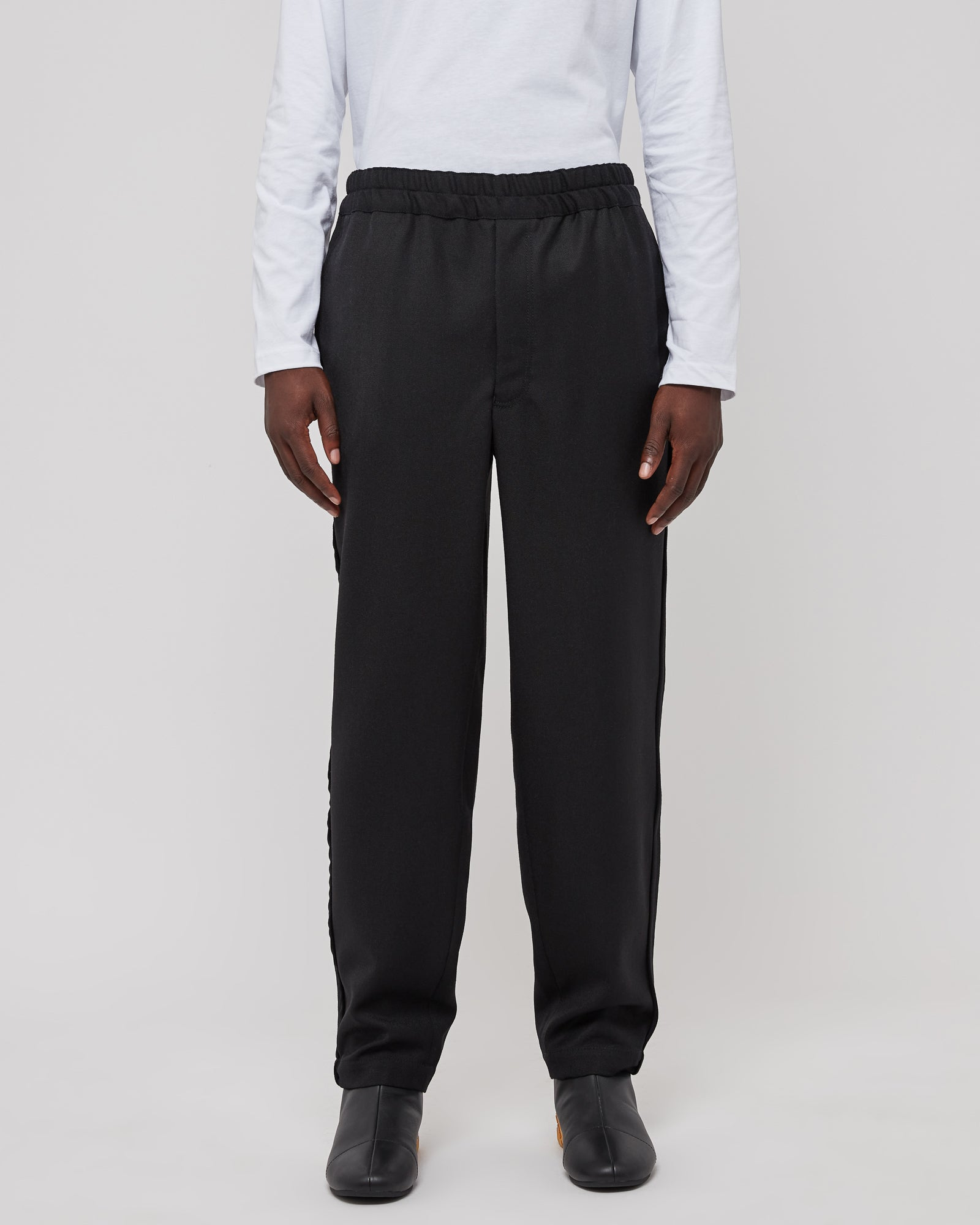 Drawcord Trouser in Black