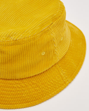 Eight Wale Corduroy Bucket Hat in Gold