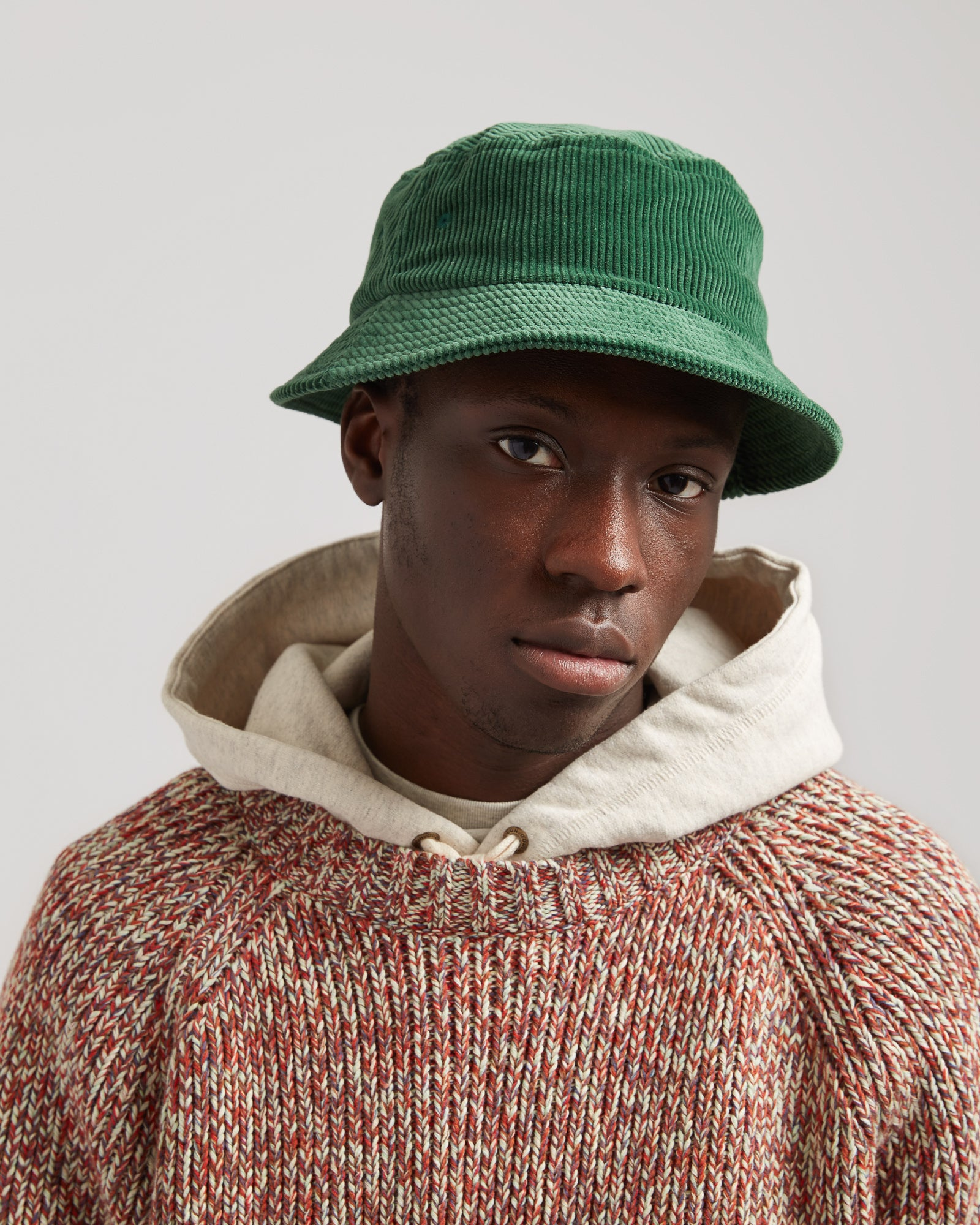 Eight Wale Corduroy Bucket Hat in Green