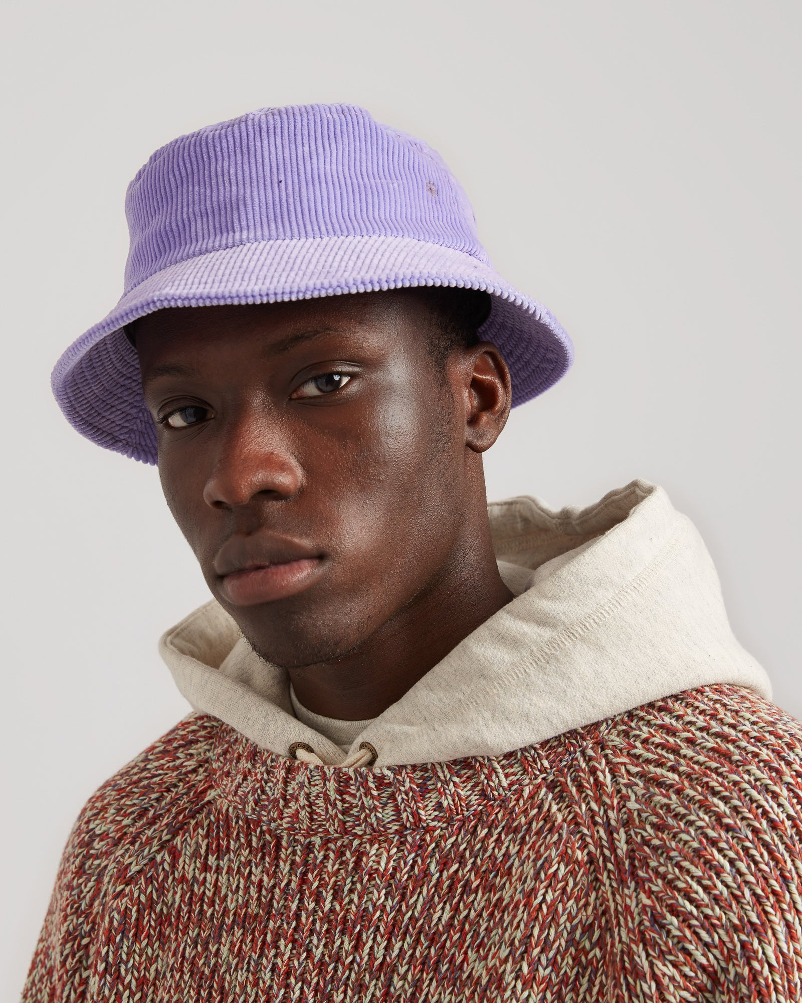 Eight Wale Corduroy Bucket Hat in Lavender