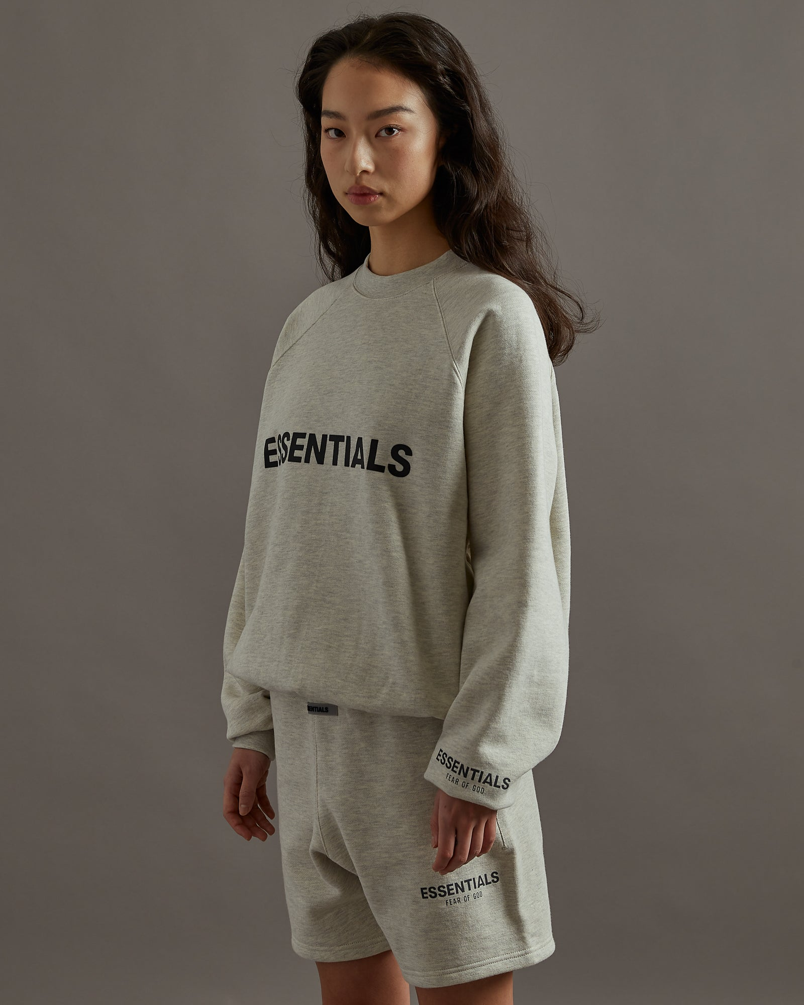 Pullover Crewneck in Oatmeal