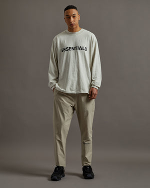 Logo L/S T-Shirt in Oatmeal