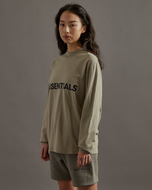 Logo L/S T-Shirt in Olive