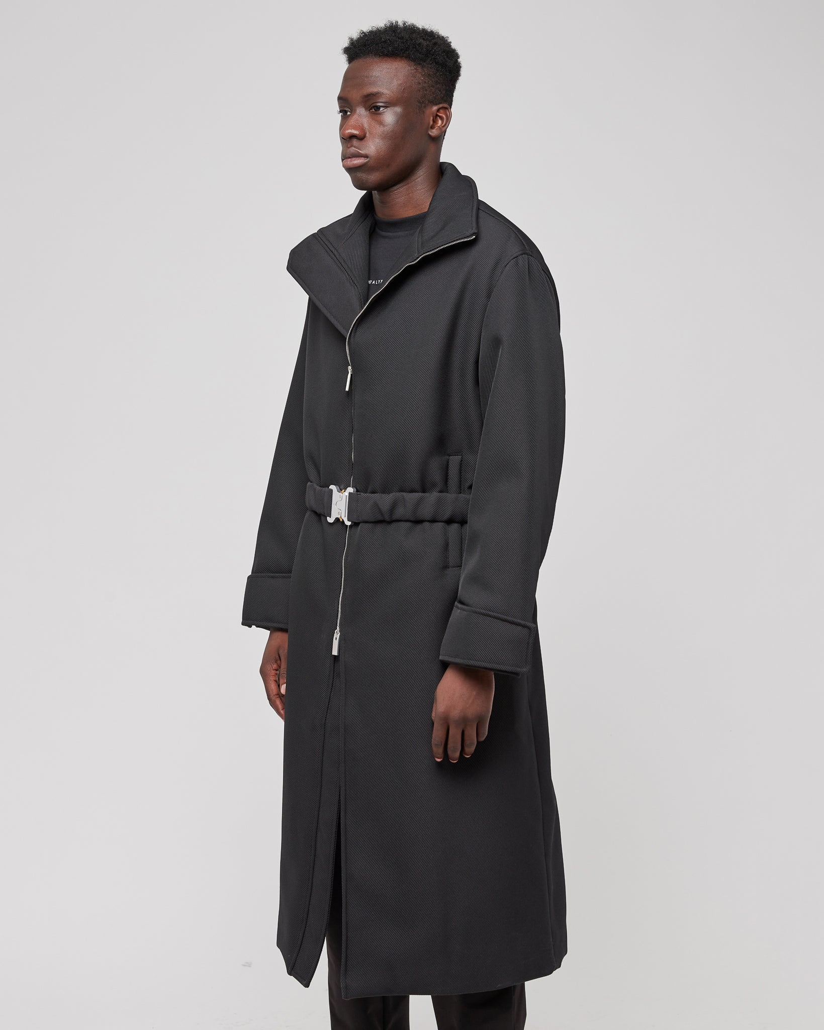 Evening Puffer Coat in Black