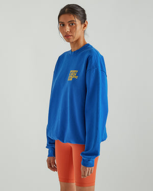Exercise Often Crewneck in Royal Blue