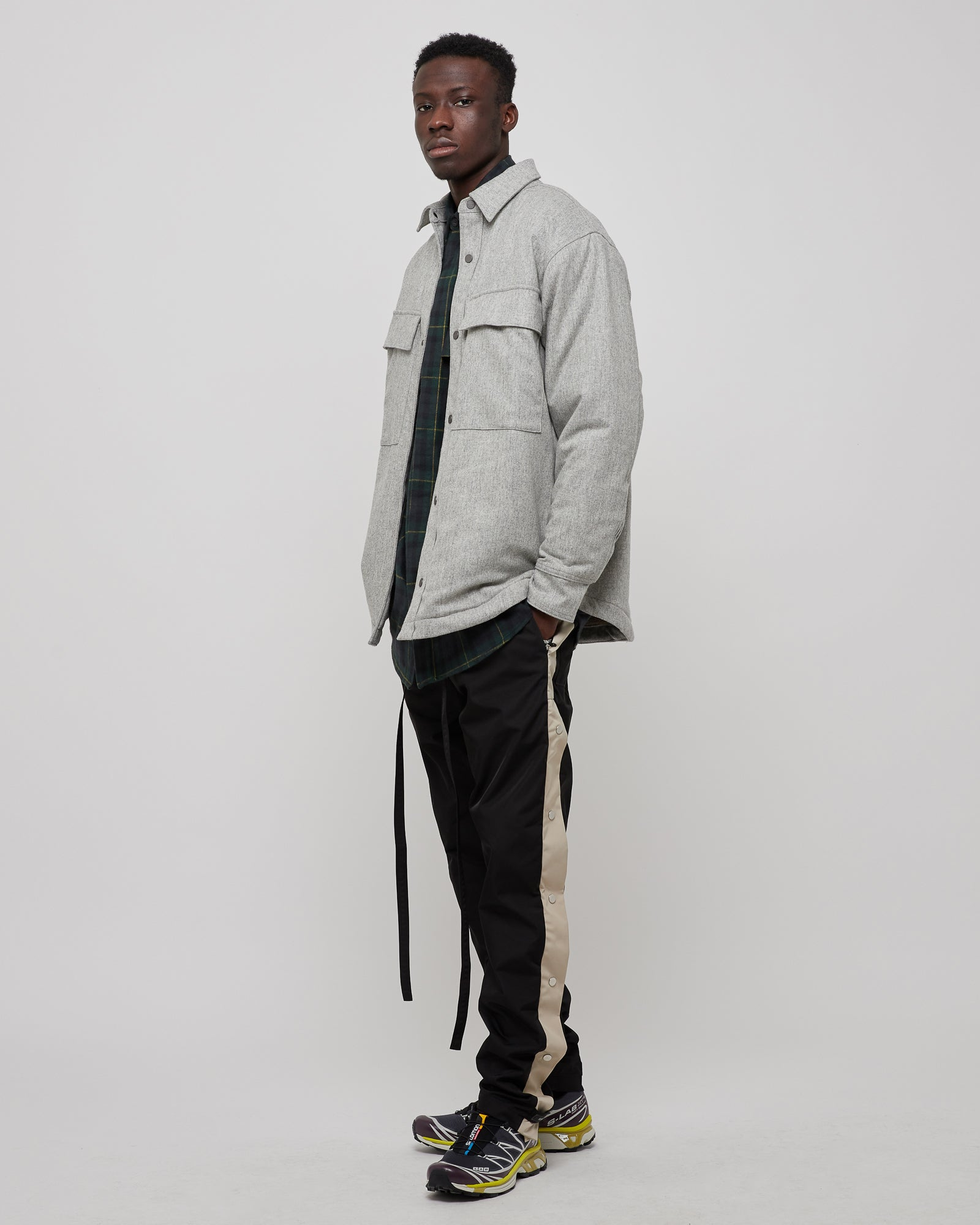 Sherpa Lined Jacket in Heather Gray