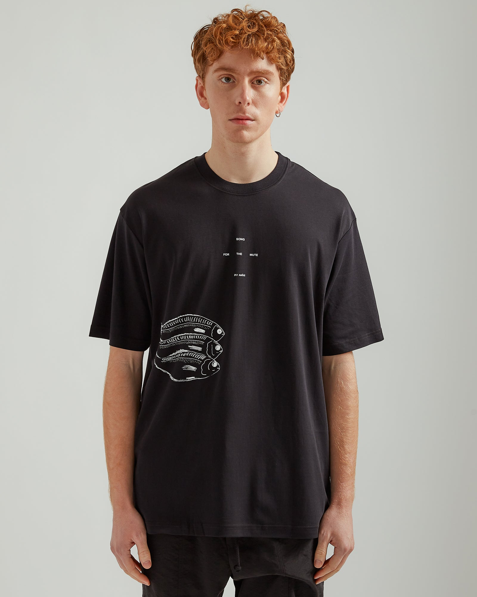 Fish Oversized T-Shirt in Black