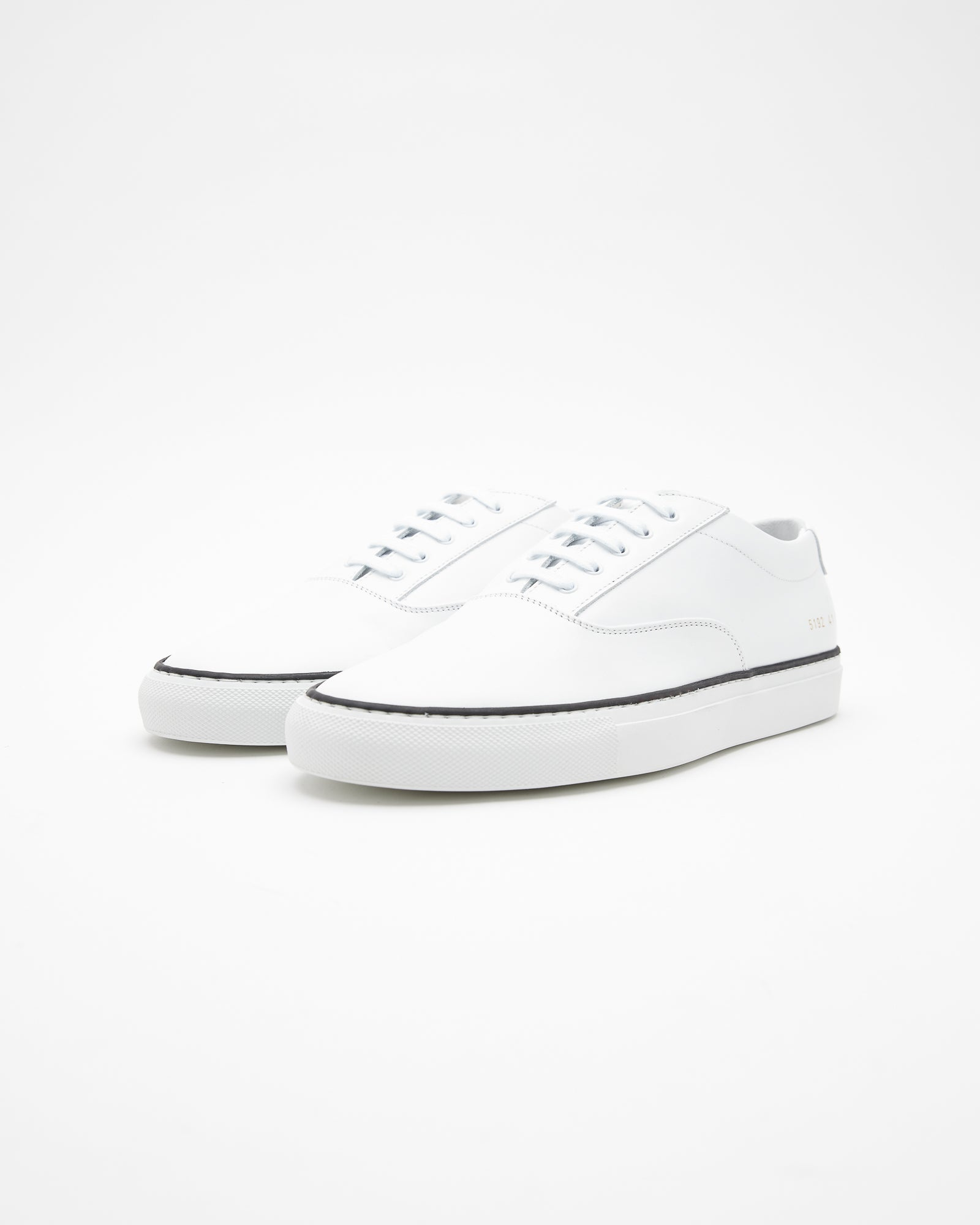 Five Hole Sneakers in Leather White