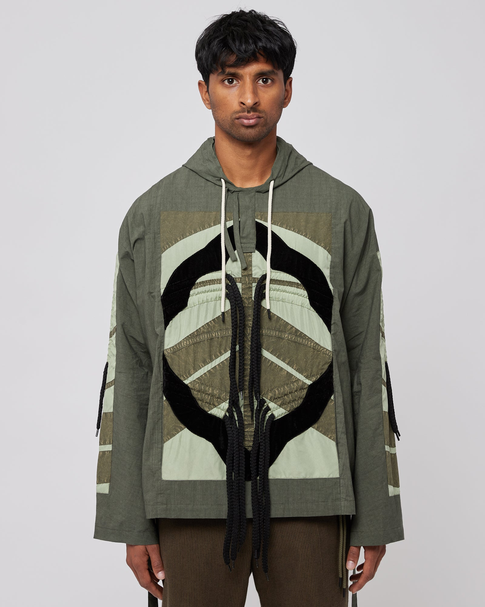 Flower Diamond Cagoule in Olive
