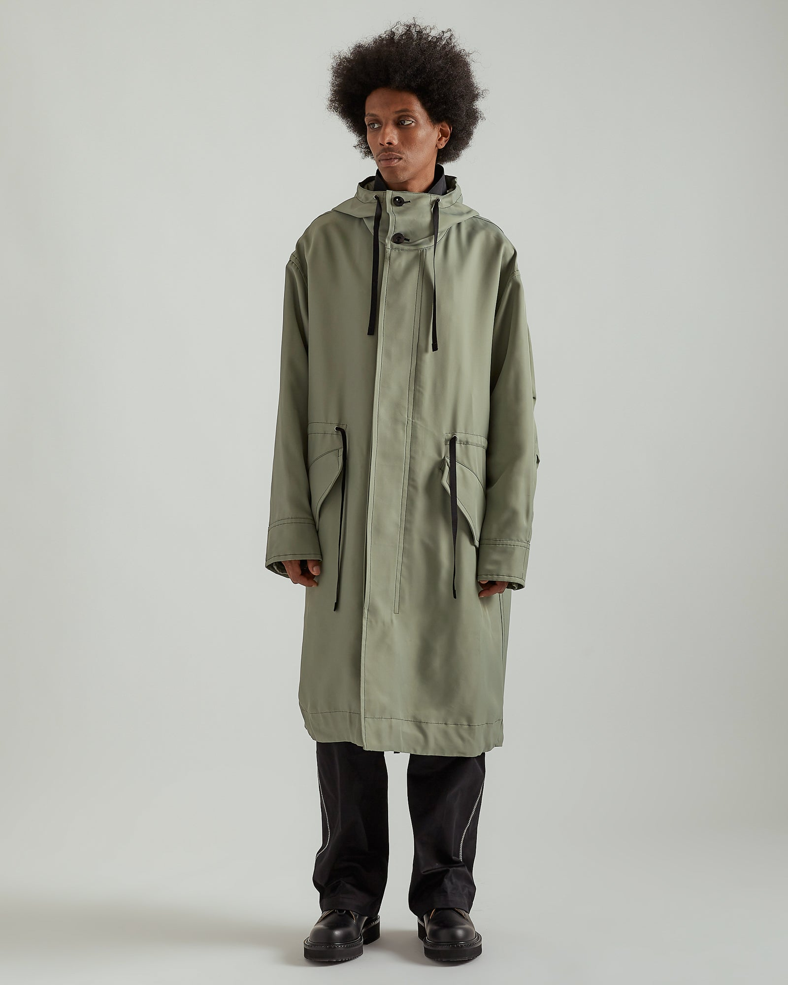 Frieze Parka in Cadet Green