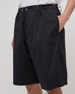 Broadcloth Shorts in Black
