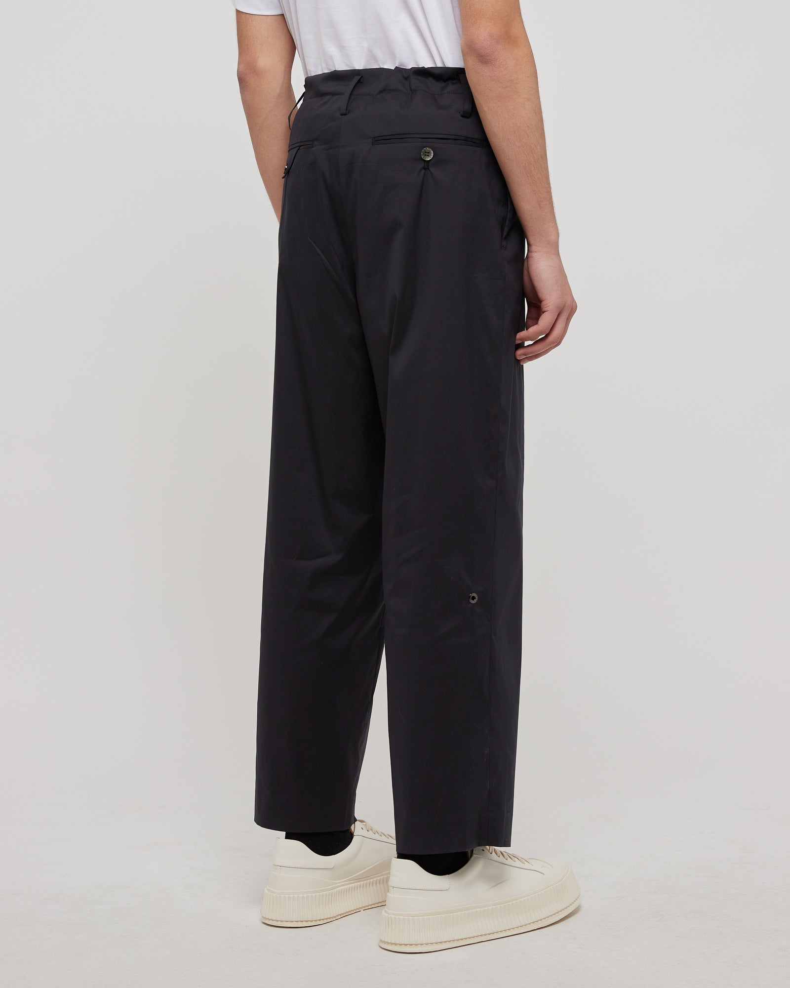 Broadcloth Trousers in Black