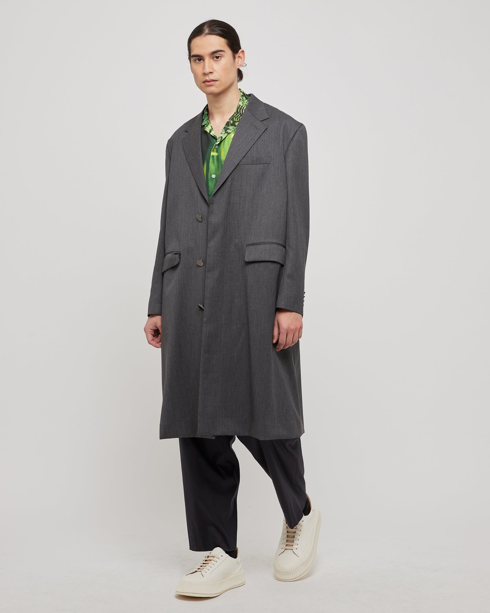 Trench Coat in Charcoal Heather