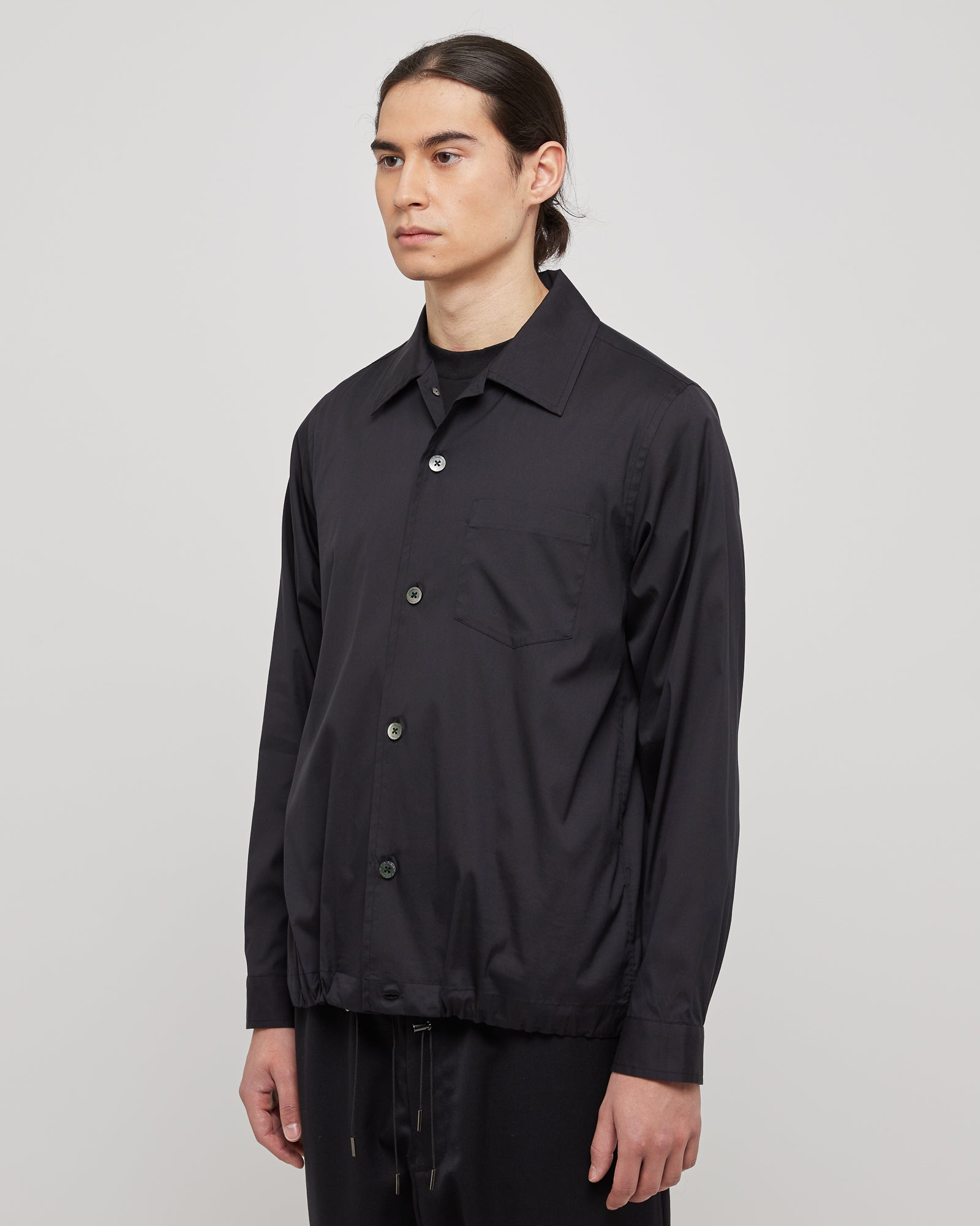 L/S Pocket Shirt in Black