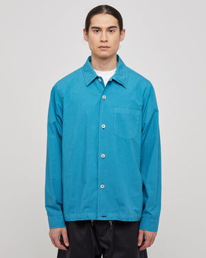 L/S Pocket Shirt in Blue Green