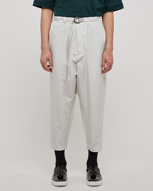 Lounge Belt Pant in Light Gray