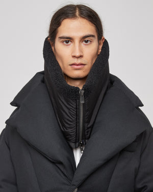 Funnel Neck Warmer in Black