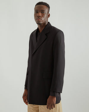 Gabardine Jacket in Black