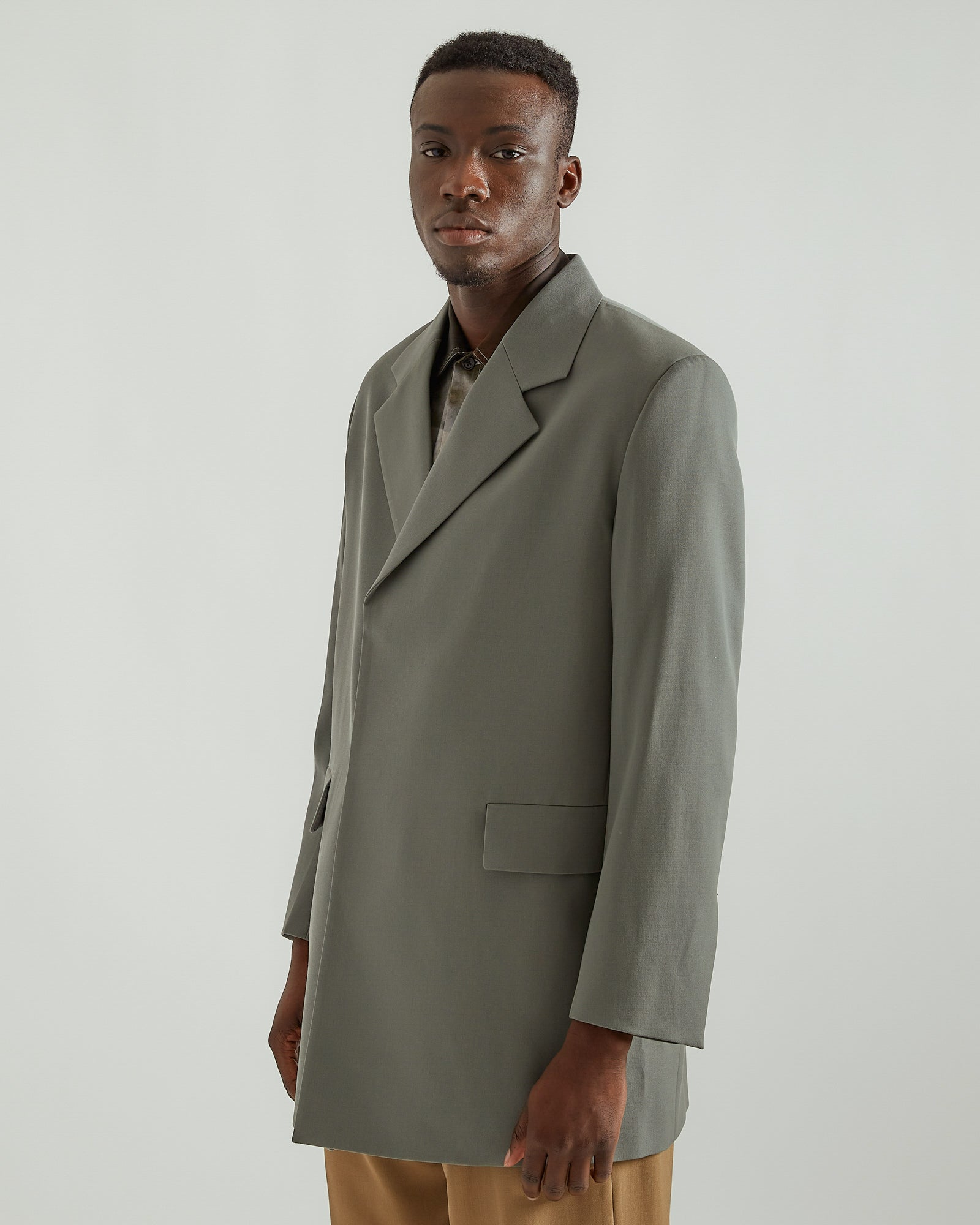 Gabardine Jacket in Granite