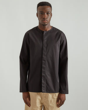 Gabardine Shirt in Black